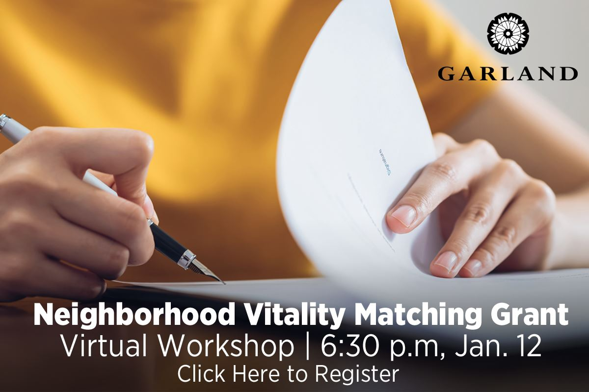 Matching grant Workshop, Tuesday, Jan. 12, 6:30 p.m. | Click Here to Register